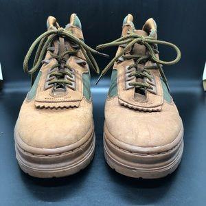 Durango tan green boots 7.5